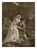 Queen Mary Escaping from Loch Leven Castle Giclee Print by  English