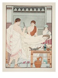Gynaecological Examination, Illustration from 'The Works of Hippocrates', 1934 (Colour Litho) Giclee Print by Joseph Kuhn-Regnier
