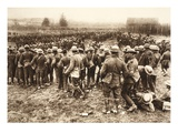 English Prisoners at a Collection Point During the 'Great War in France' (B/W Photo) Giclee Print by  German photographer