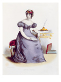 Mme De Stael, C.1840 (Colour Engraving) Giclee Print by  Laederick