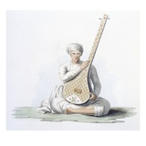 A Tumboora, Musical Instrument Played by the Higher Castes, from 'Costumes of India' by E. Orme Giclee Print by Franz Balthazar Solvyns