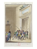 Mob of Parisians Attacking and Killing the Guard at the Entry to the Queen's Apartments Giclee Print by Jean-francois Janinet