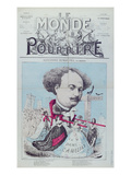 Caricature of Alexandre Dumas, Fils for 'Le Monde Pour Rire' Magazine, 2nd May, 1868 (Colour Litho) Giclee Print by Baril Gedeon