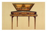 Hammered Dulcimer in a Painted Soundbox, 18th Century, from 'Musical Instruments' (Coloured Litho) Premium Giclee Print by Alfred James Hipkins