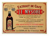Advertisement for 'Le Mysore' Coffee Extract (Colour Litho) Premium Giclee Print by  French