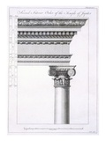 Second Interior Order of the Temple of Jupiter Giclee Print by Robert Adam
