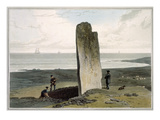 Druidical Stone at Strather Near Barvas, Isle of Lewis Giclee Print by William Daniell