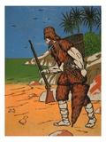 Robinson Crusoe Giclee Print by  English