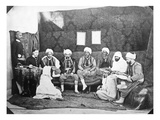 Tribunal of Conciliation of Different Races at the Bureau Arabe, C.1857-67 (B/W Photo) Giclee Print by Jacques Antoine Moulin