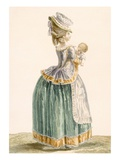 Young Provincial Mother and Child, Engraved by Patas, Plate Giclee Print by Pierre Thomas Le Clerc