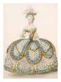 Lady Wearing Dress for a Royal Occasion, Design Attr. to Anvorious, Pub. April 1796 Giclee Print by  French