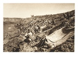 German Infantry Battalion in Reserve Position, During the Advance North of Focsani, August 1917 Giclee Print by  German photographer