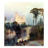 Feeric Landscape (Oil on Canvas) Giclee Print by Thomas Moran