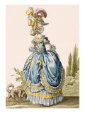 Back View of a Lady's Gown, Engraved by Voysard, Plate No.8 Giclee Print by Claude Louis Desrais