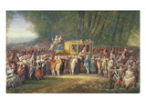 King Louis Xvi Being Taken from Versailles to Paris by the Women of Les Halles in October 1789 Giclee Print by Joseph Navlet
