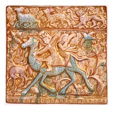Pl 26 Persian Lustred All-Tile: a Mounted Sassanian Archer, 19th Century (Colour Litho) Giclee Print by Henry Wallis