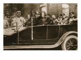 From the German Side: a German Lady-Chauffeur Who Has Been Awarded the Iron Cross Giclee Print by  German photographer