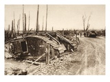 Annihilated English Tank Squadron at the Somme (B/W Photo) Giclee Print by  German photographer