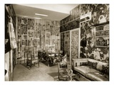 An Apartment Designed by Fornasetti, 1950S (B/W Photo) Giclee Print by  French Photographer