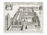 New College, Oxford, from 'Oxonia Illustrata', Published 1675 (Engraving) Giclee Print by David Loggan