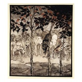 They Stood Outside, Filled with Savagery and Terror, Illustration from 'Irish Fairy Tales' Giclee Print by Arthur Rackham