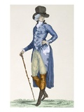 Master of the Royal House in an Elaborate Blue Coat, Engraved by Le Beau, Plate No.256 Giclee Print by Francois Louis Joseph Watteau