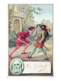 Romeo Fighting Tybalt in Gounod's Opera 'Romeo and Juliet' Adapted from the Play Giclee Print by  French