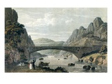 Waterloo Bridge over the River Conwy, Wales (Colour Engraving) Giclee Print by  English