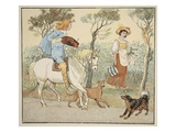 Where are You Going, My Pretty Maid, Illustration from the Milkmaid Giclee Print by Randolph Caldecott