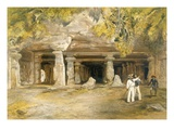 The Cave of Elephanta, from 'India Ancient and Modern', 1867 (Colour Litho) Giclee Print by William 'Crimea' Simpson