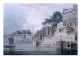 Dasasvamedha Ghat, Benares, Uttar Pradesh, C.1788-89 (Coloured Aquatint) Premium Giclee Print by Thomas Daniell