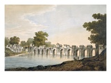 Pl. 34 a View of the Bridge at Ilionpoor over the River Goomty from 'Select Views in India' Giclee Print by William Hodges