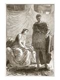Interview Between Octavian and Cleopatra (Litho) Giclee Print by  English