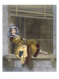 Waiting for the Ball (Coloured Engraving) Giclee Print by  French