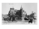 Postcard Depicting the Corner Boulevard Diderot and Rue Des Charbonniers, Paris, C.1900 (B/W Photo) Giclee Print by  French Photographer