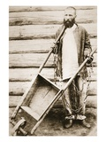 Convict in Siberia, C.1890S (Sepia Photo) Giclée-tryk af Russian Photographer