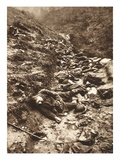 A Platoon of Fallen Italians in a Ditch at Cividale (B/W Photo) Giclee Print by  German photographer