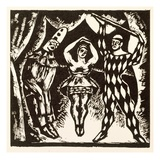Harlequinade, Woodcut by Roger Fry (Woodcut) Giclee Print by Mark Gertler