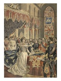 Oath of Constitution of Queen Wilhemina Illustration from 'Le Petit Journal: Supplement Illustre' Giclee Print by  French