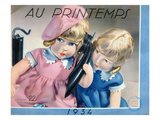 Advertisement for Toys from a Catalogue of the Parisian Department Store 'Printemps', 1934 Giclee Print by  French