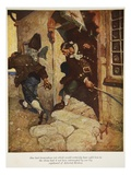 One Last Tremendous Cut Which Would Certainly Have Split Him to the Chine Giclee Print by Newell Convers Wyeth