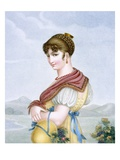 The Reverie, Engraved by Augrand, C.1816 (Coloured Engraving) Giclee Print by Parfait Augrand