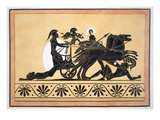 A War Chariot and Vanquished Enemies, Published 1808-10 (Colour Litho) Giclee Print by  French