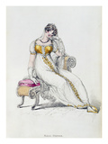 Evening Dress or Wedding Dress, Fashion Plate from Ackermann's Repository of Arts Giclee Print by  English