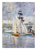 The Harbour, Deauville, Normandy, 1912 (Oil on Canvas) Giclee Print by Paul Cesar Helleu