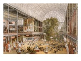 Interior of the Internation Exhibition of 1862 (Colour Litho) Giclee Print by  English
