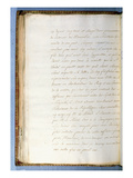 2nd Page of a Letter Written by Jean-Jacques Rousseau While Secretary to the French Ambassador Giclee Print by Jean Jacques Rousseau