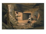 Mine of the Bastion Du Mat, Plate from 'The Seat of War in the East' Giclee Print by William 'Crimea' Simpson