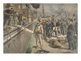 The First Prisoners at Key West During the Spanish American War Giclee Print by  French