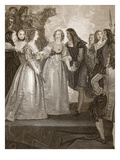 Charles II Receiving the Dss of Orleans at Dover, Engraved by W. Bromley Giclee Print by Thomas Stothard